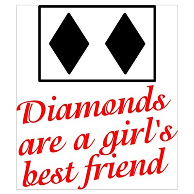 Diamonds: girl's best friend Canvas Art